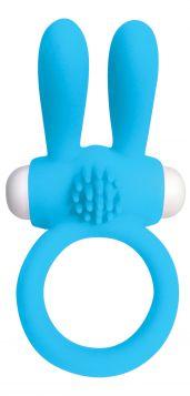 PipeDream Neon Rabbit Titresimli Penis Halkasi - Mavi