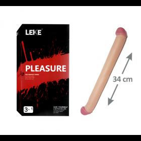 Pleasure Çift Taraflı Dildo Penis - 34 cm