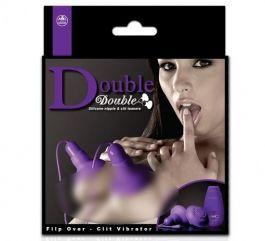 Double Double %100 Silikon Titreşimli Göğüs ve Klitoris Uyarıcı - MOR