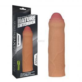 Nature Extender 2.5 cm Uzatmalı Sünnetsiz %100 Silikon Penis Kılıfı
