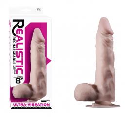 Ultra Realistic Şarjlı Penis Vibratör M2 - 20 cm
