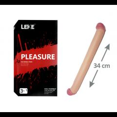 Pleasure Çift Tarafli Dildo Penis - 34 cm