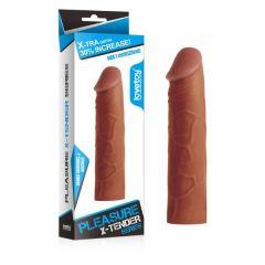 X-TENDER 2.5 cm Uzatmali Esmer Realistik Penis Kilifi
