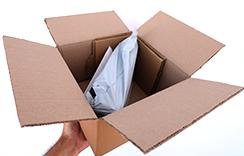 YasakElmam'da kapalı kargo poşetine konulan ürünler yine kapalı kargo kutularına konur.